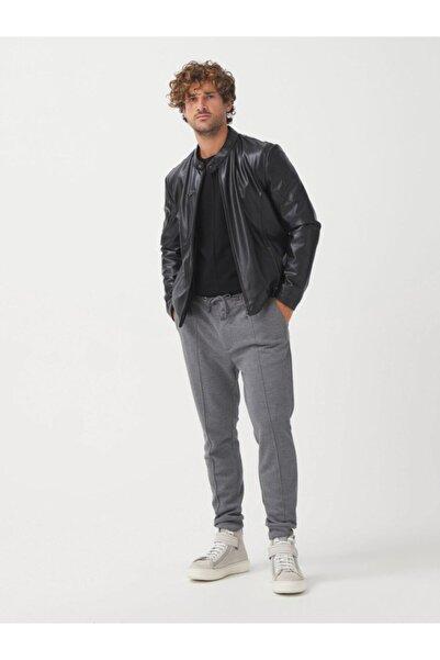Xint Erkek Siyah Deri Ceket