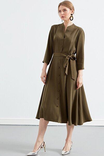 Journey Kadın Haki  Truvakar Kol Gömlek Elbise