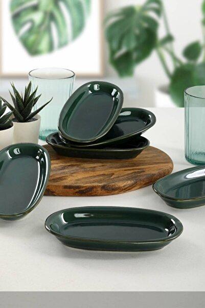 Keramika Zümrüt Hitit Kayık Tabak 16 Cm 6 Adet