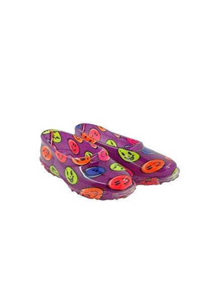 fafatara Mor Renkli Emoji Desenli Çoçuk Lastik Ayakkabı