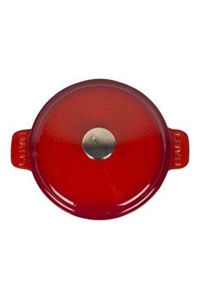Kırmızı Yuvarlak Tencere Çap 26 Cm