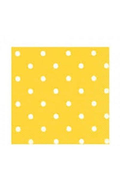 Poppy Peçete Sarı Puanlı 80 Adet