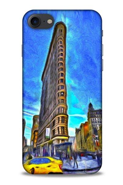 Lopard Iphone 7 Uyumlu Dünya Mimarisi (7) Telefon Flat Iron New York Kılıf