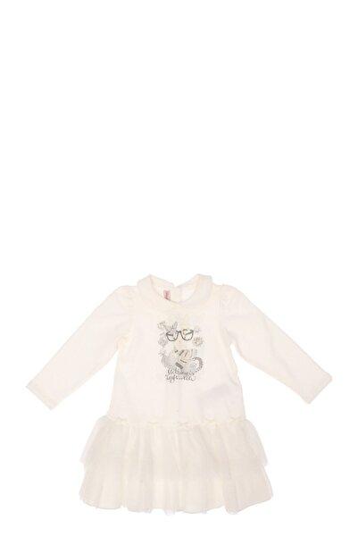 Miss Blumarine Tül Detaylı Beyaz Elbise