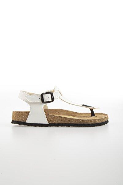 Pierre Cardin Kadın Beyaz  Günlük Sandalet
