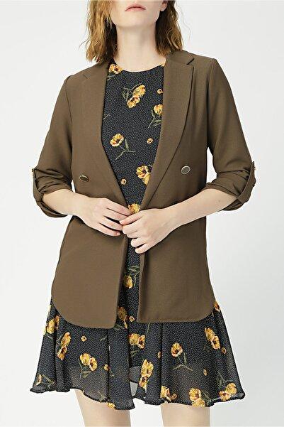 RANDOM Kadın Düğmeli Klasik Ceket %100 Polyester