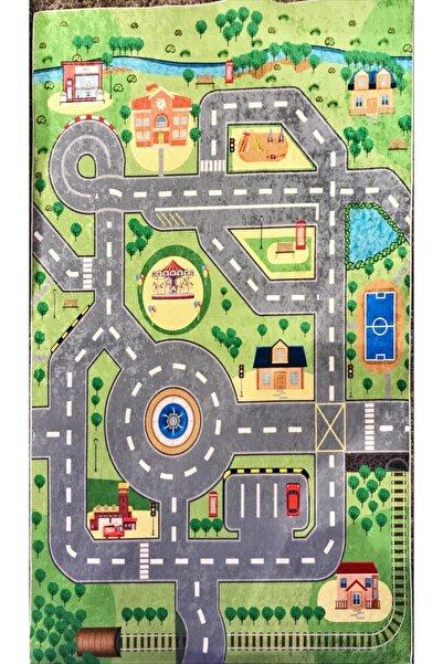Karmen Halı Yeşil Figürlü Çocuk Halısı 00261a