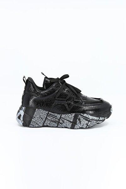Pierre Cardin Kadın Siyah Günlük Spor Ayakkabı
