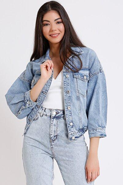 FAF Kadın Açık Mavi Pamuklu Kot Ceket 4001