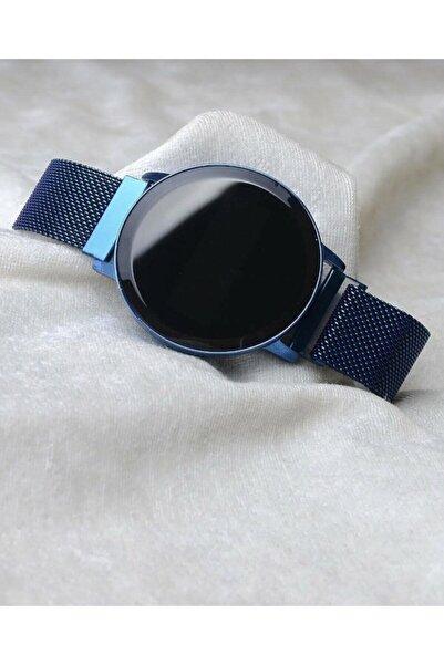 Spectrum Unisex Mavi Dijital Dokunmatik Ekran Mıknatıs Kordonlu Saat