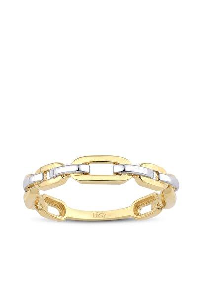 Lizay Pırlanta Altın Trend Yüzük