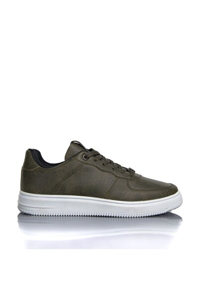 Pierre Cardin Erkek Haki Vegan Cilt Baskı Bağcıklı Günlük Klasik Spor Ayakkabı -pce3003