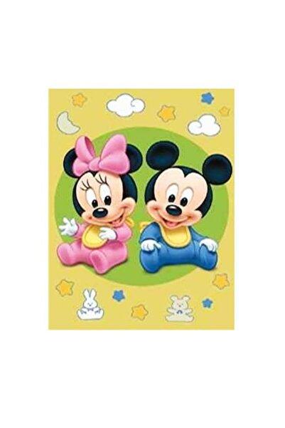 Kaşmir Çocuk Halısı Minnie Ve Mickey Desen 10 Kaymaz Taban Dokuma 133x185 Cm