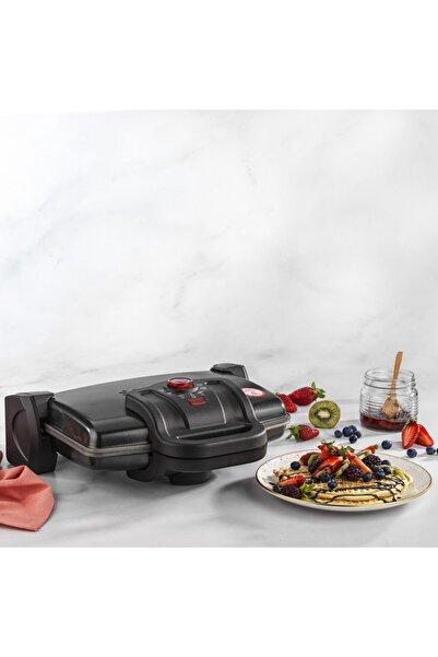 Schafer Nostalgie Waffle Tost Makinesi Siyah Renk