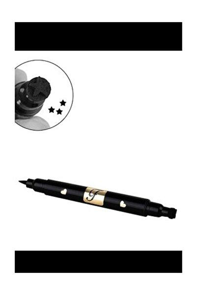 Rose Yıldız Bir Tarafı Kalem Bir Tarafı Yıldız Baskılı Eyeliner