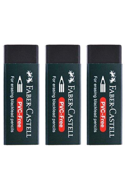 Faber Castell Pvc Free No:20 Büyük Boy Siyah Silgi(3 Adet)