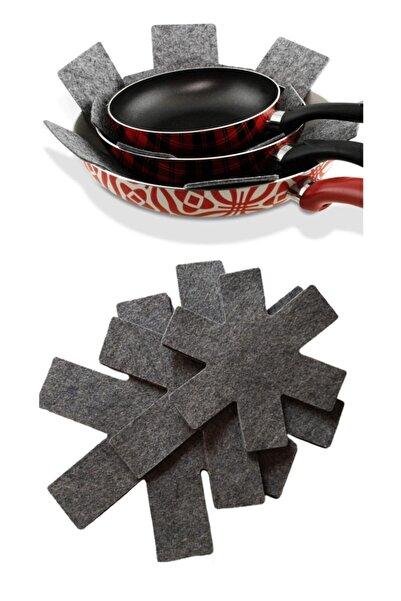 Meleni Home 3'lü Tencere Tava Koruyucu Çizdirmez Keçe