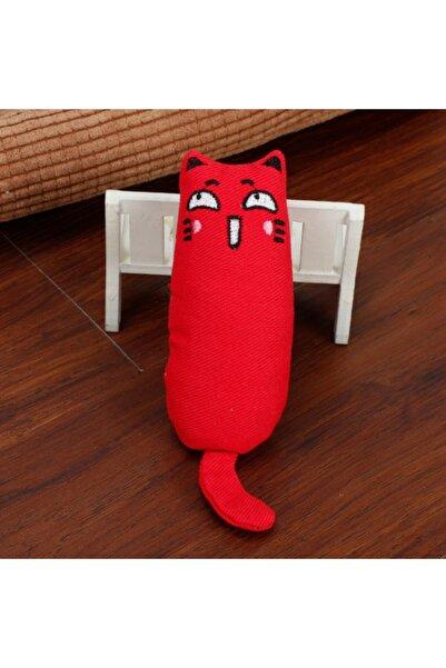 Petish Kırmızı Renk Çıngıraklı Kedi Otlu Kedi Oyuncağı
