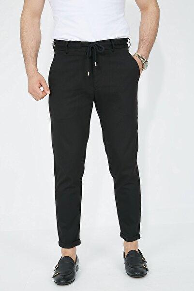 Fc Plus Siyah Bağcıklı Erkek Pantolon - Slım Fıt