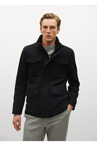 MANGO Man Erkek Lacivert Fermuarlı Ceket