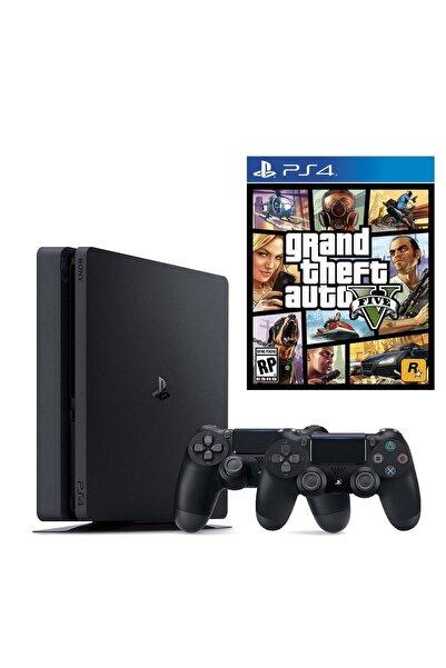 Sony Playstation 4 Slim 500 Gb + 2. Ps4 Kol + Ps4 Gta 5