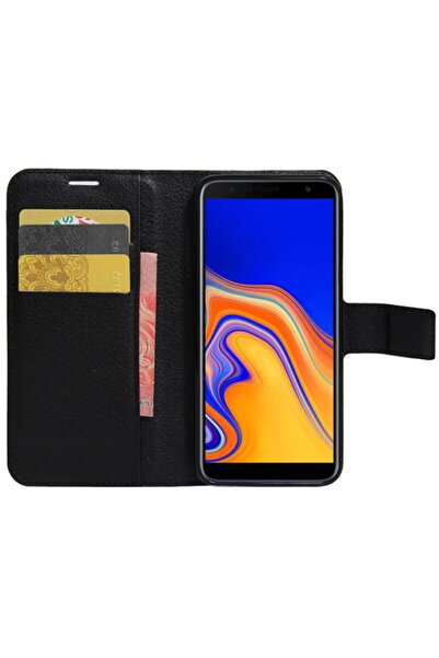 Samsung Microsonic Cüzdanlı Deri Galaxy J6 Plus Kılıf Siyah