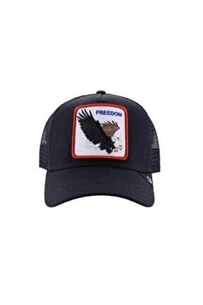 Unisex Siyah Freedom Şapka