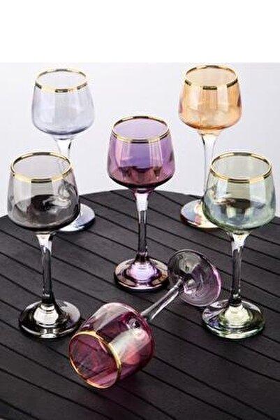 Lüx Lüsterli Küçük Ayaklı Kahve Yanı Bardağı 6 Renk