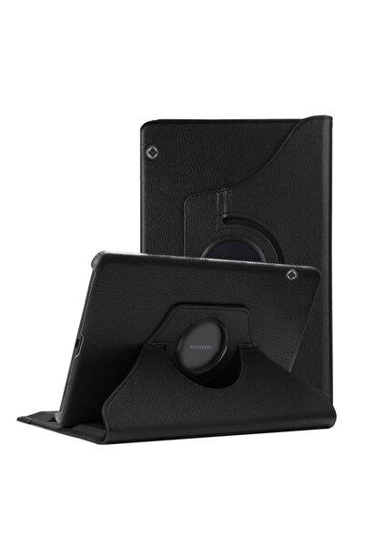 Huawei Microsonic Mediapad T5 10'' Kılıf 360 Rotating Stand Deri Siyah