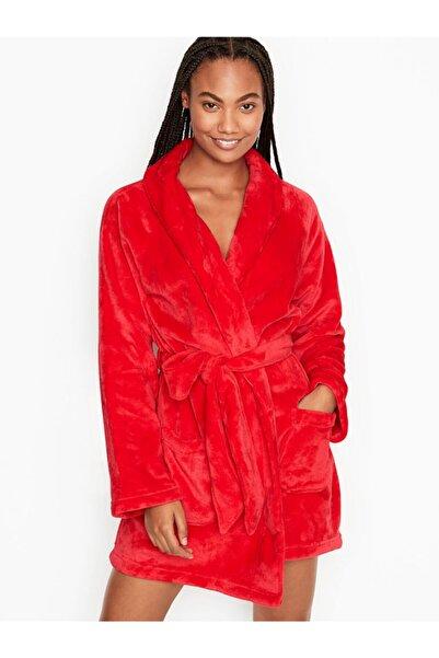 Victoria's Secret Logolu Kısa Cozy Robe(Bornoz)