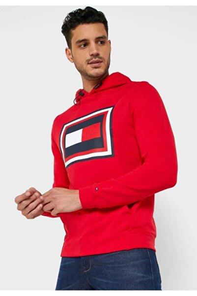 Tommy Hilfiger Flag Box Logo Erkek Sweatshirt