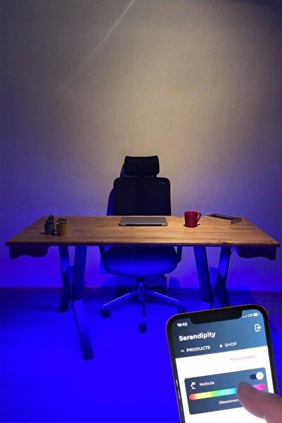 IoF Ofis Masası, Ahşap Masa, Büro Masası, Akıllı Telefon Ile Işık Kontrolü / 70x150