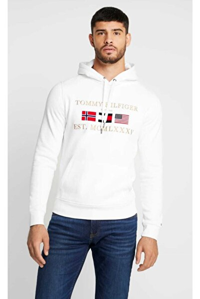 Tommy Hilfiger Relaxed Global Flag Erkek Sweatshirt