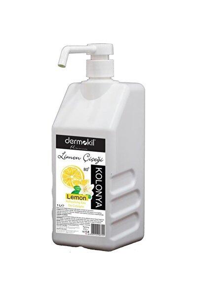 Dermokil 1 Litre 80° Limon Çiçeği Kolonya Walfli Sprey Başlıklı