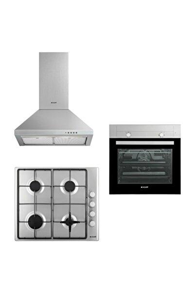 Arçelik Yeni Inox 3'lü Fırsat Set (9620 MI + O 705 YDGEI +P 27 YI)