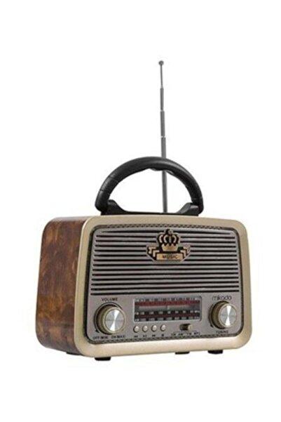 Everton 301 Ahşap/kahve Usb-tf Bluetooth 3 Band Klasik Radyo