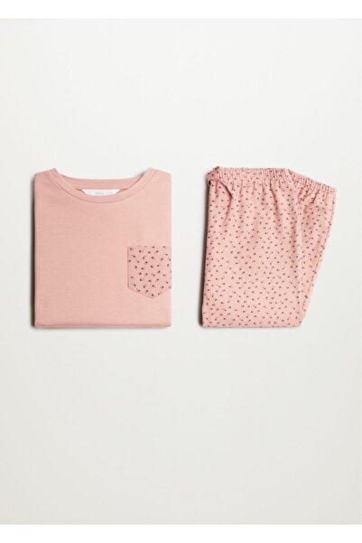 MANGO Kids Uzun Koton Pijama Takımı
