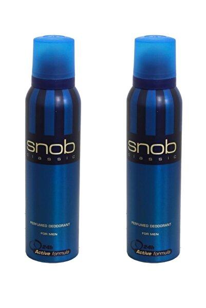 Snob For Men Classic Deodorant 150ml X 2 Adet