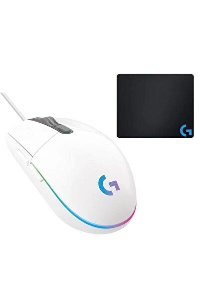 logitech G102 Beyaz Lightsync Gaming Mouse + Oem Gaming Mouse Pad 40x30cm