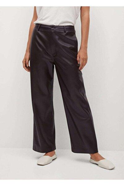 MANGO Woman Kadın Koyu Bordo Pantolon