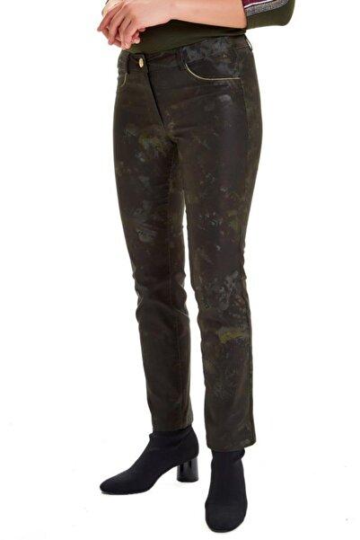 İKİLER Cepleri Simli Şeritli Desenli Pantolon 201-3506