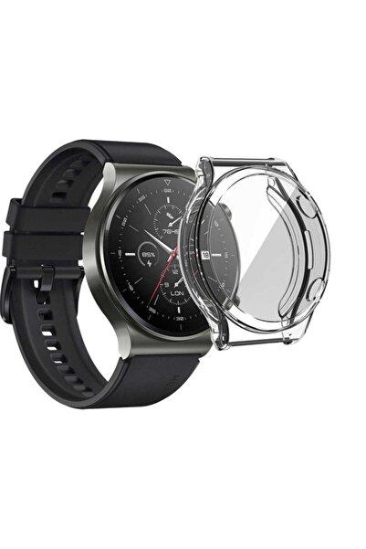 Nezih Case Kasa Ve Ekran Koruyucu Huawei Watch Gt2 Pro Uyumlu (hafif Kompakt Tasarım) Şeffaf