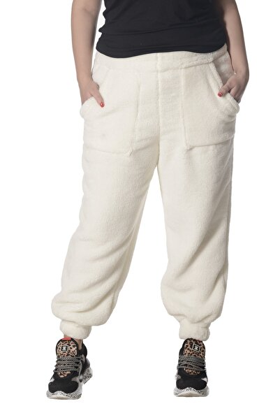 Moda Cazibe Büyük Beden Wellsoft Cepli Paça Lastikli Pantolon