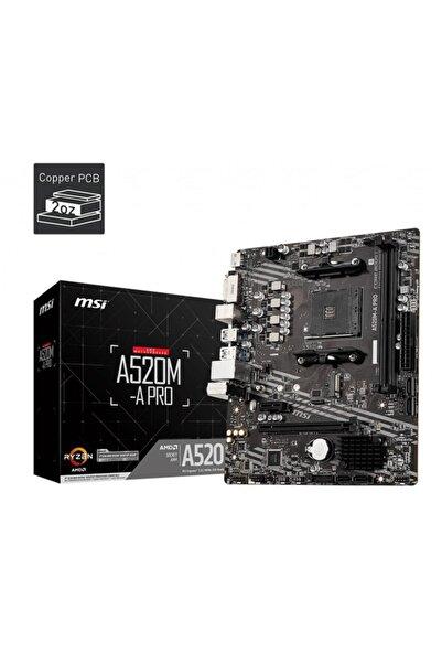 MSI A520m-a Pro Am4 Ddr4 4600(oc) Dvı Hdmı M.2 Usb3.2 Matx