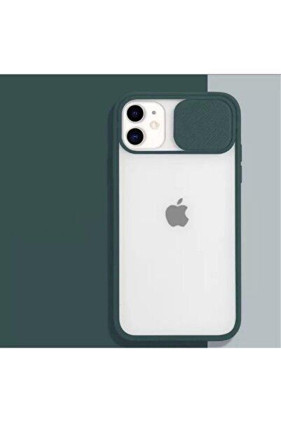 ESNAFSTORE Iphone 11 Uyumlu Kamera Koruyuculu Pembe Kılıf Slayt Korumalı Şeffaf Telefon Kılıfı