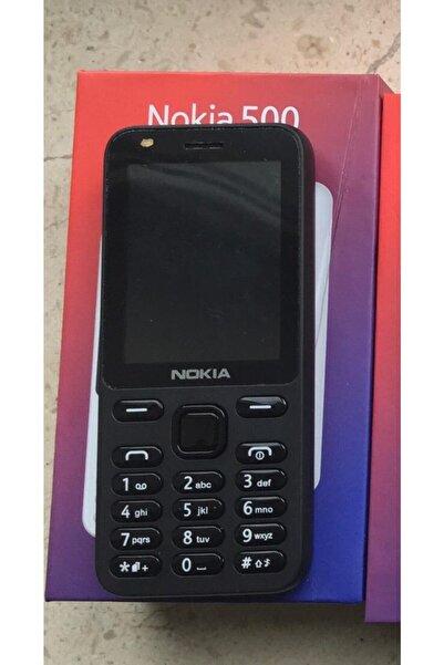 Nokia 500 Kamerasız Çift Hatlı Hafıza Kartlı Tuşlu Cep Telefonu Siyah