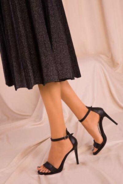 Siyah Kadın Klasik Topuklu Ayakkabı 14530