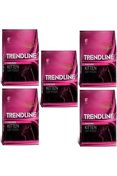 Trendline Kitten Tavuklu Yavru Kedi Maması - 1 Kg X 5 Adet