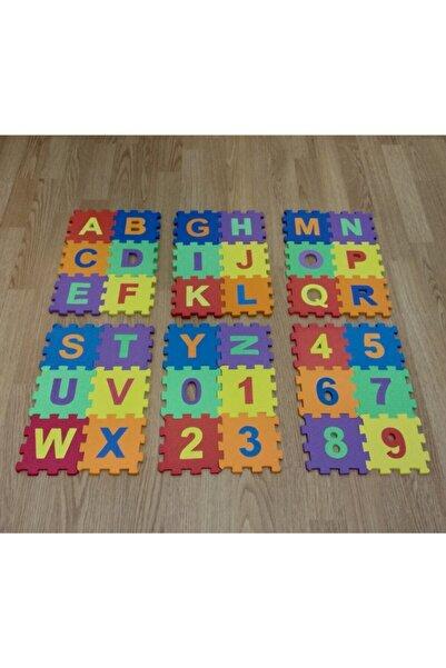 elfobaby 36 Parça 12cm X 12cm Harfler Ve Sayılar Eva Puzzle Oyun Matı