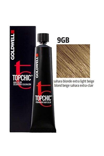 GOLDWELL Topchic Saç Boyası 9gb Sahra Sarısı Ekstra Açık Bej 60 Ml+oksidan